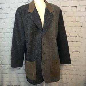 Color Block Tweed Women's Blazer Jacket